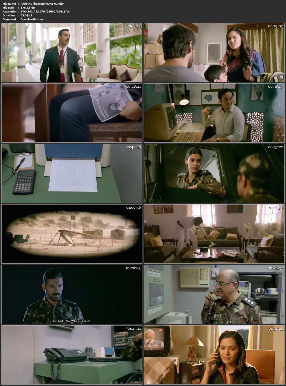 Parmanu The Story of Pokhran 2018 Hindi 180MB HDRip HEVC Mobile