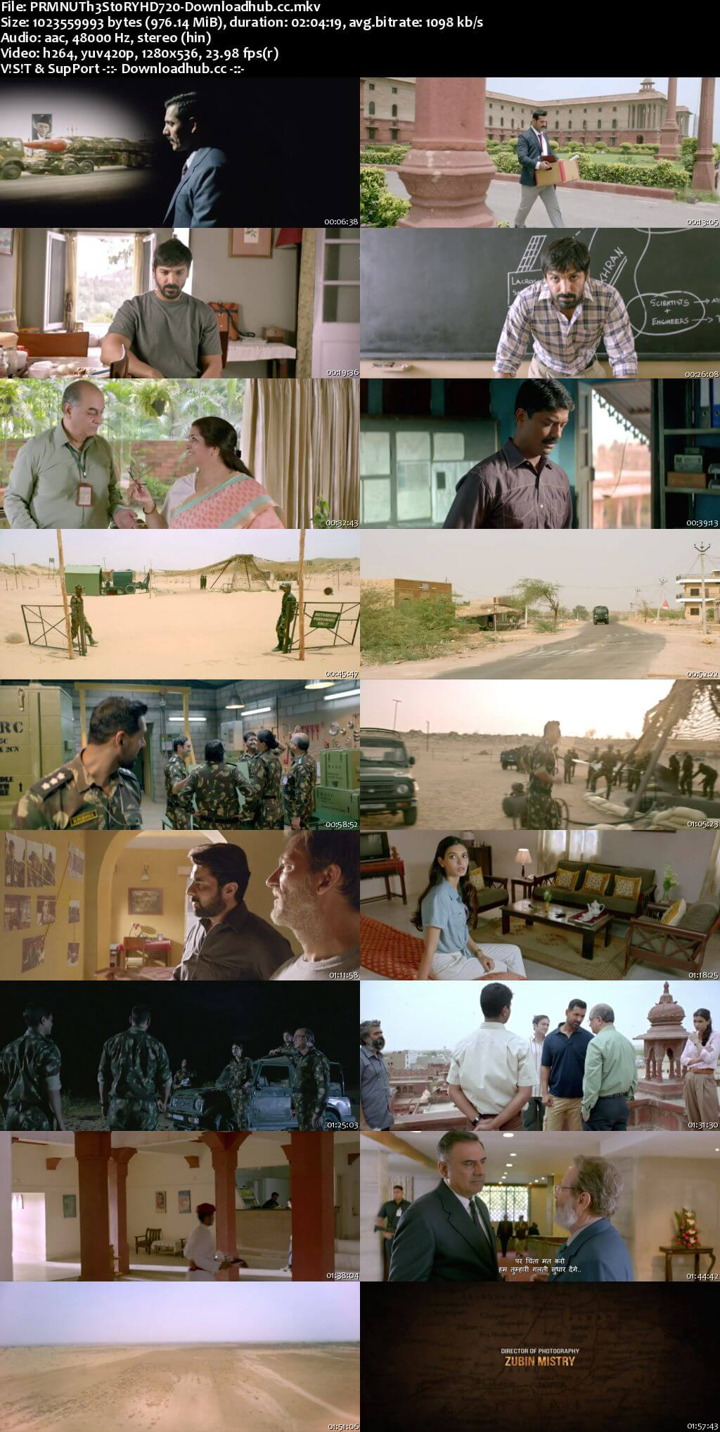 Parmanu The Story of Pokhran 2018 Hindi 720p HDRip