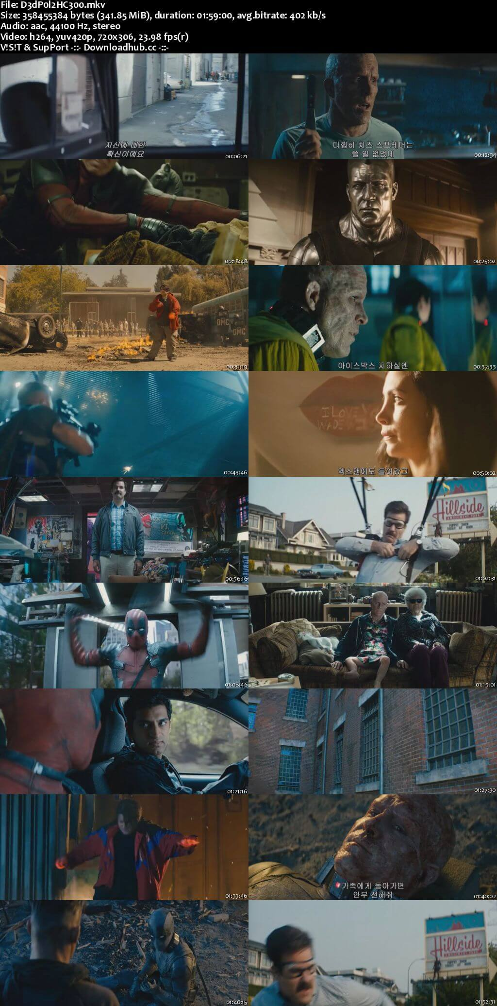 Deadpool 2 2018 English 300MB HC HDRip 480p