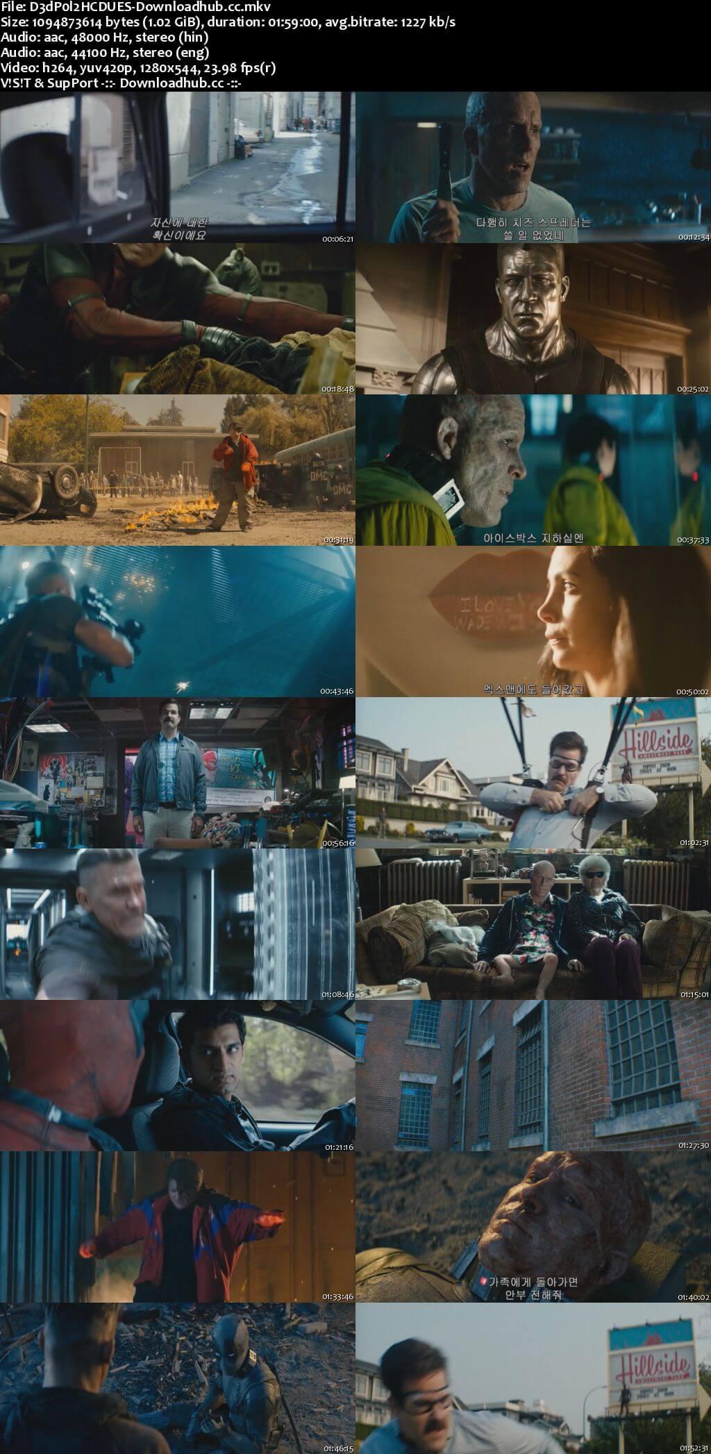 Deadpool 2 2018 Dual Audio 720p HC HDRip [Hindi (Cleaned) - English]