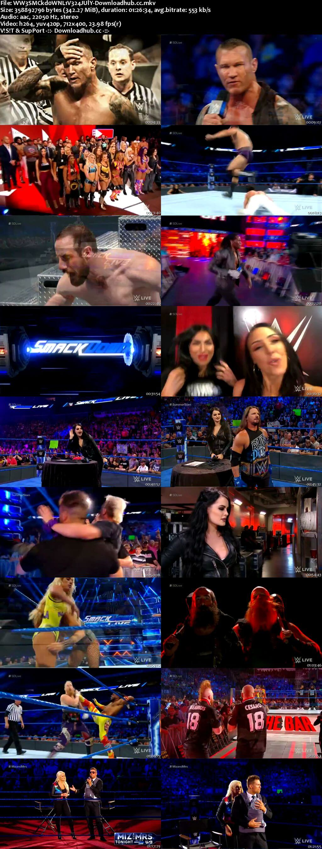 WWE Smackdown Live 24 July 2018 480p HDTV Download