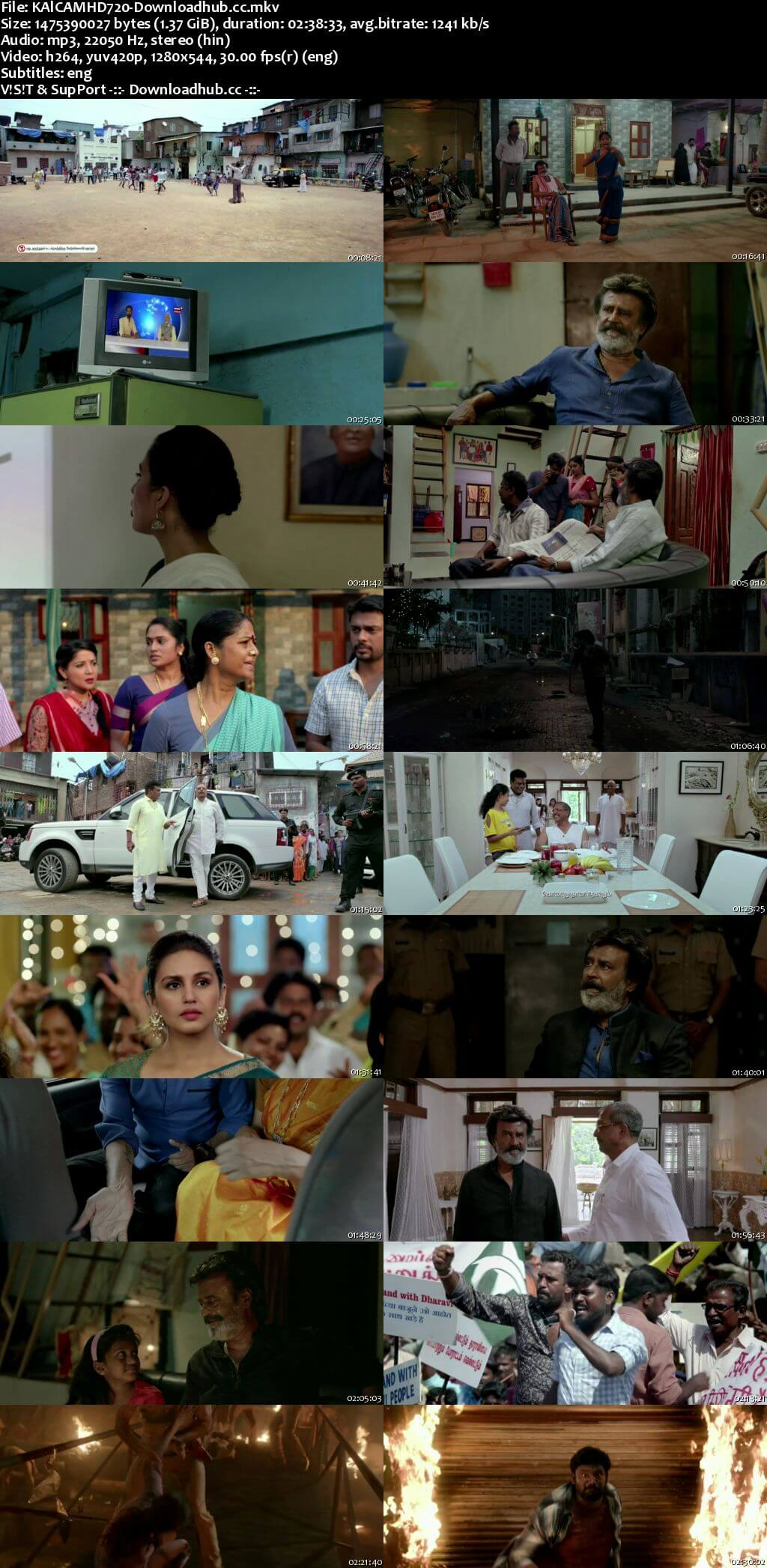 Kaala 2018 Hindi (Cleaned) 720p HDRip ESubs