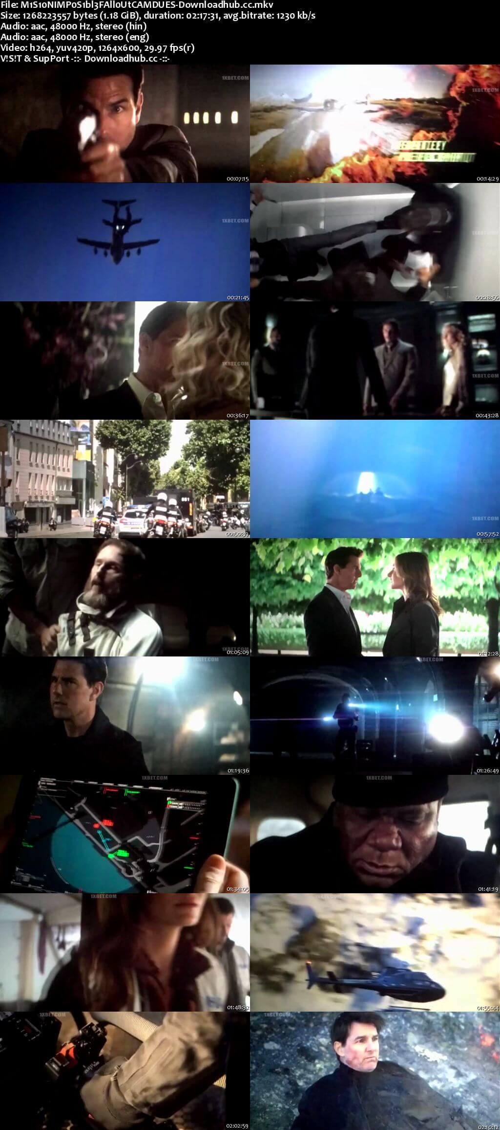 Mission Impossible - Fallout 2018 Dual Audio 720p HDCAM [Hindi - English]