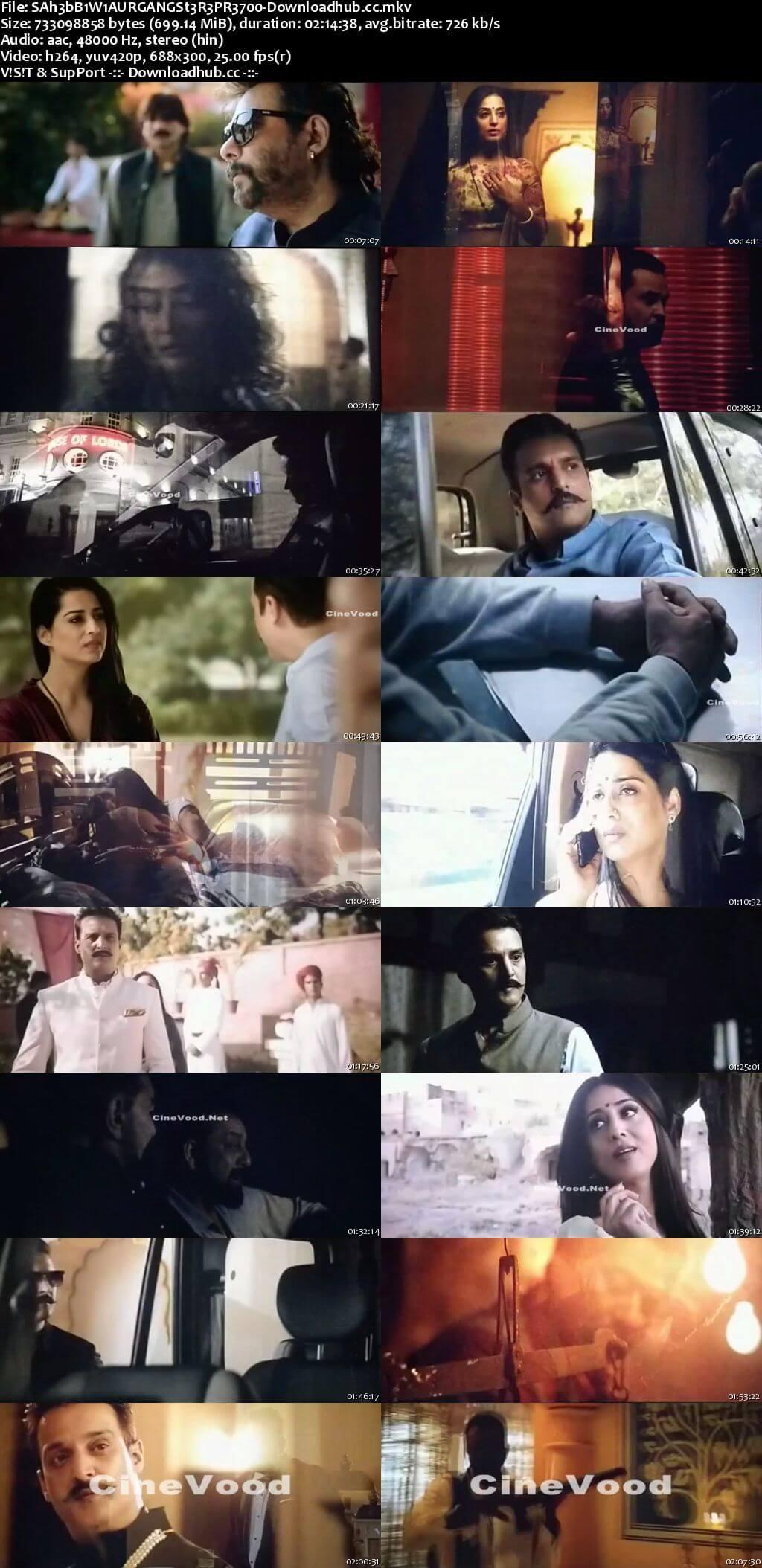 Saheb Biwi Aur Gangster 3 2018 Hindi 700MB Pre-DVDRip x264