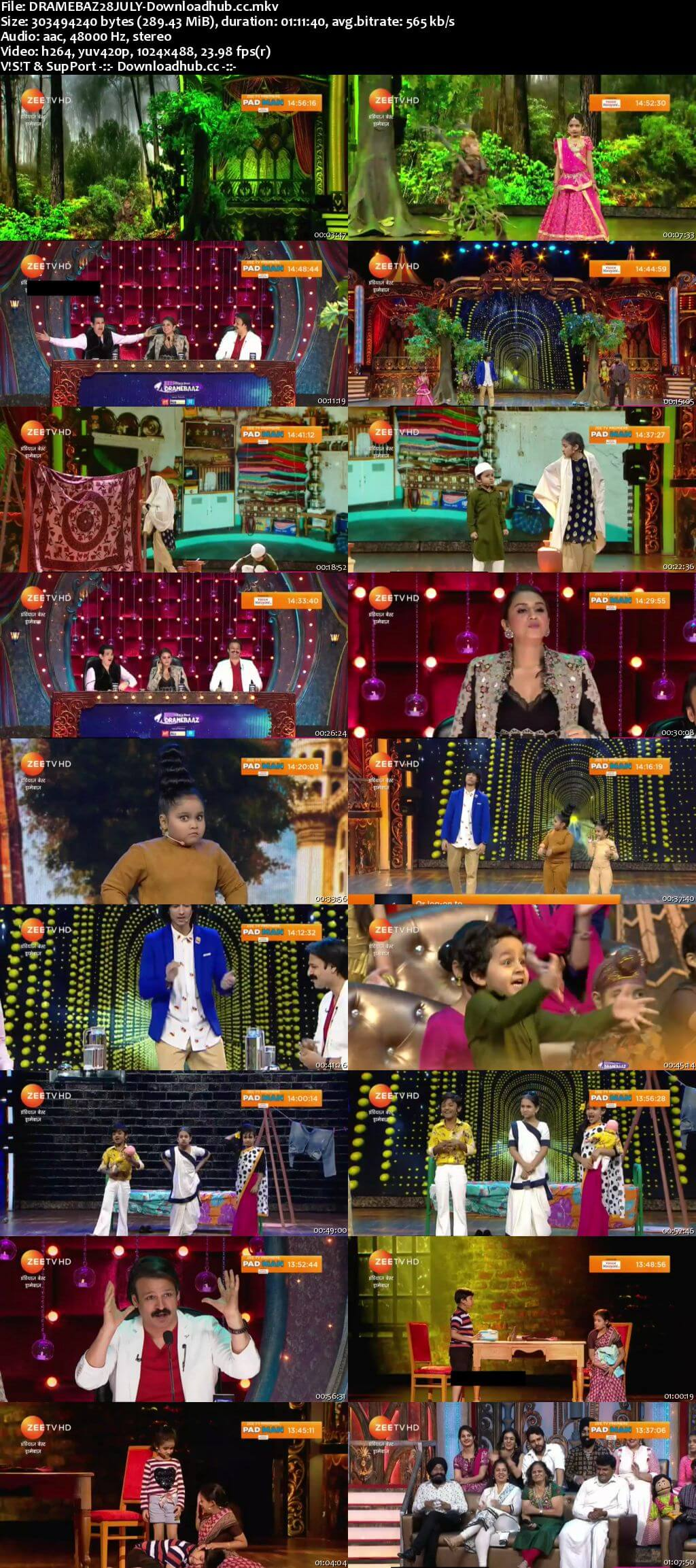 Indias Best Dramebaaz Season 3 28 July 2018 Episode 09 HDTV 480p