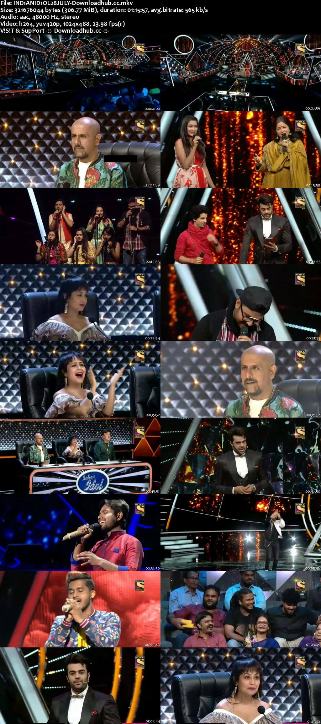 Indian Idol 28 July 2018 Episode 07 HDTV 480p