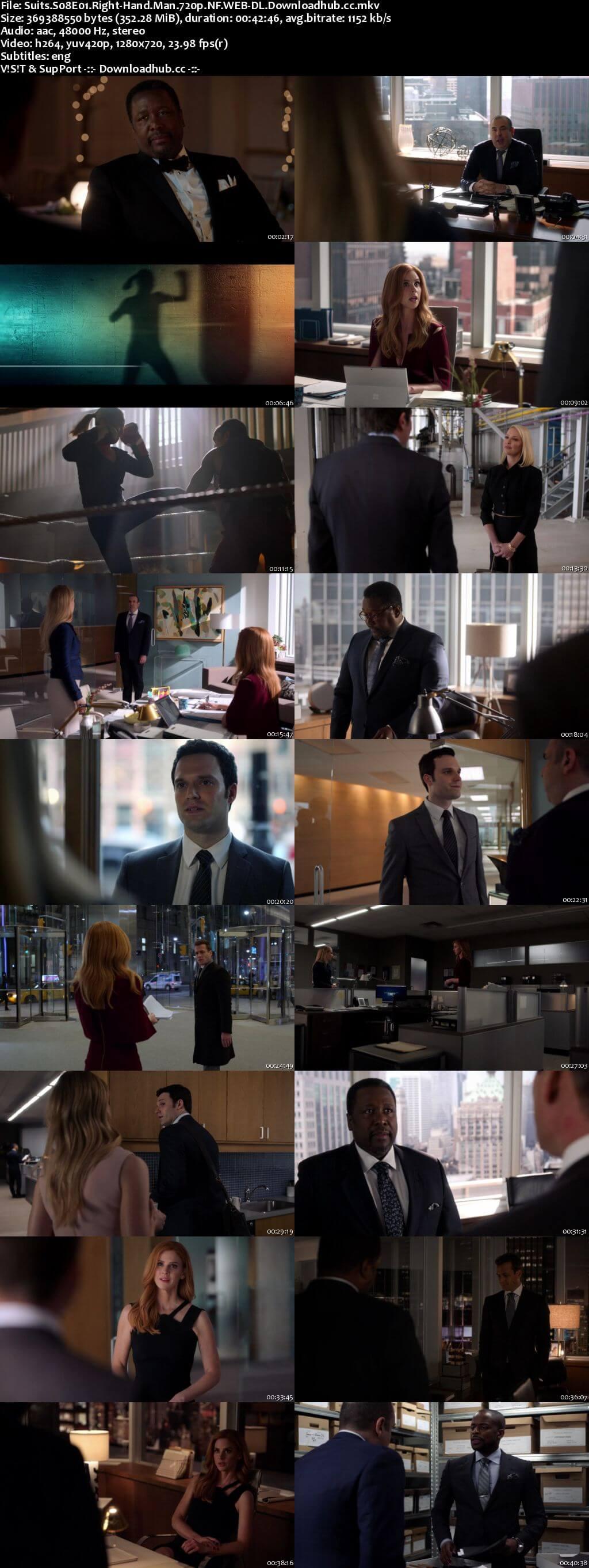 Suits S08E01 350MB Web-DL 720p x264 ESubs