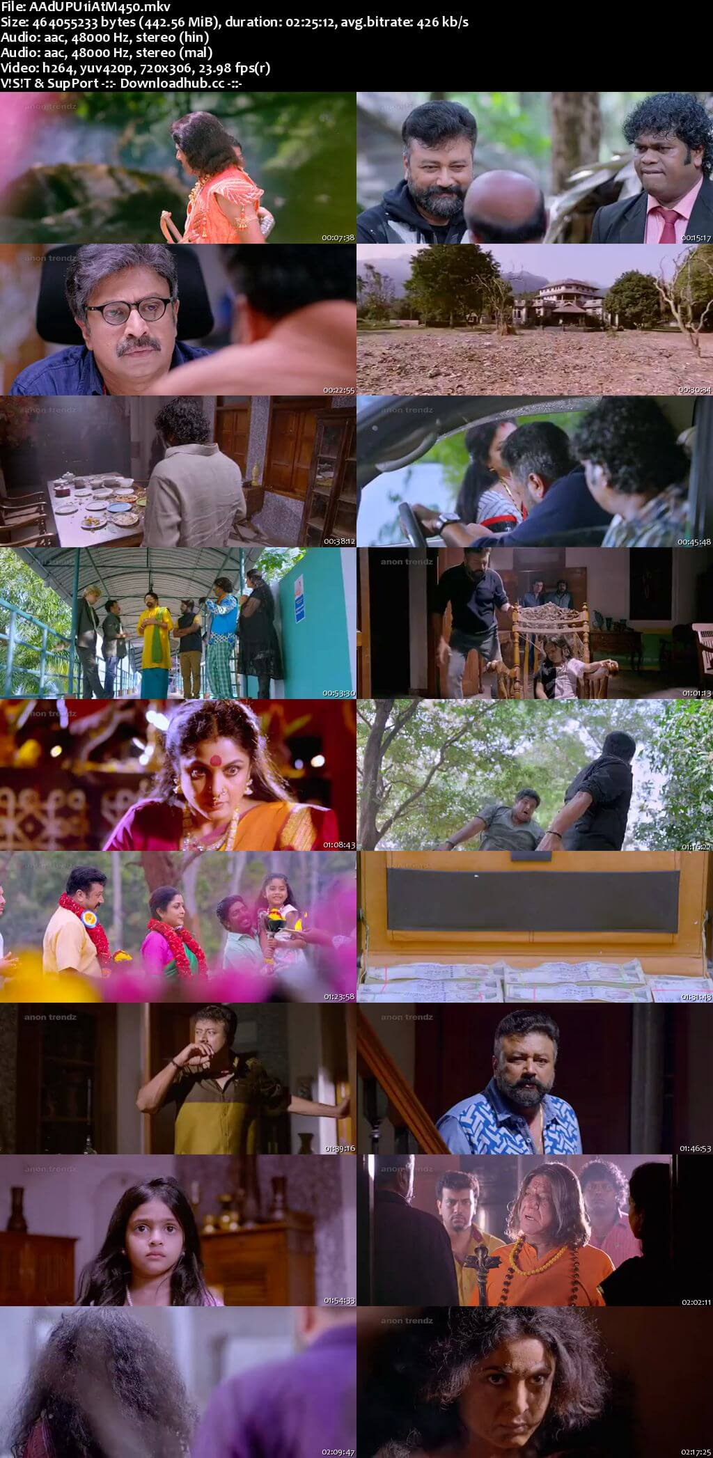 Aadupuliyattam 2016 Hindi Dual Audio 450MB UNCUT DVDRip 480p ESubs