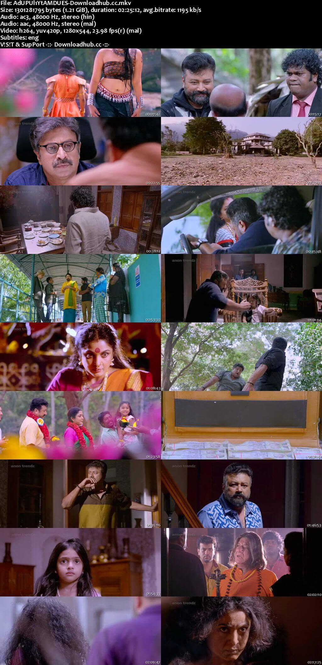 Aadupuliyattam 2016 Dual Audio 720p UNCUT DVDRip [Hindi - Malayalam] ESubs