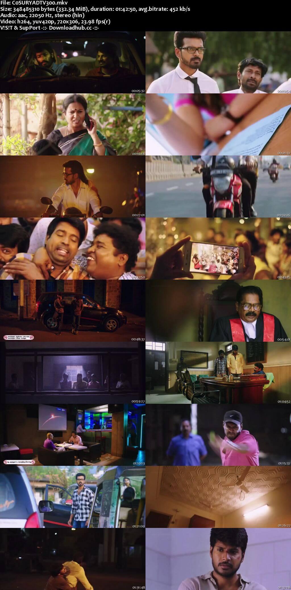 CO Surya 2017 Hindi Dubbed 300MB HDTV 480p