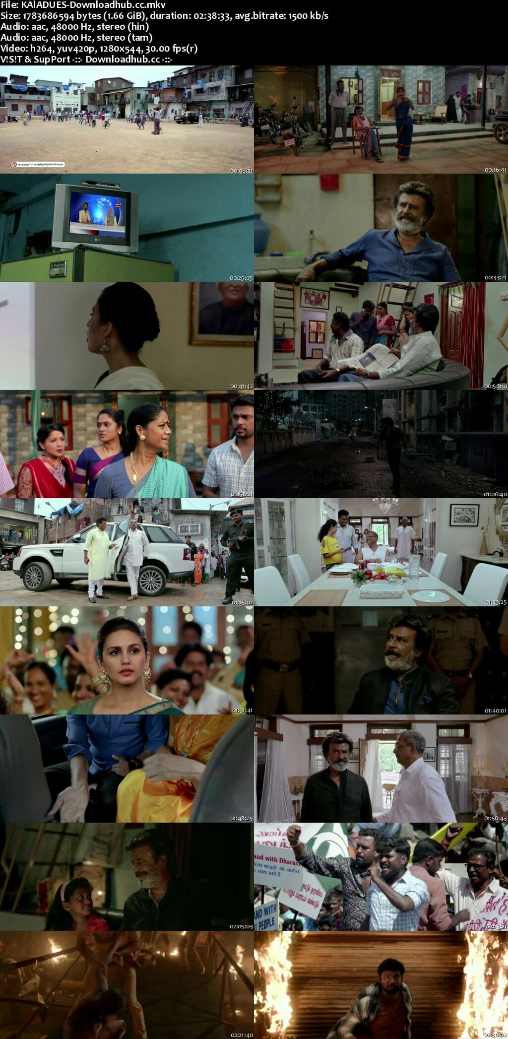 Kaala 2018 Dual Audio 720p UNCUT HDRip [Hindi - Tamil] ESubs