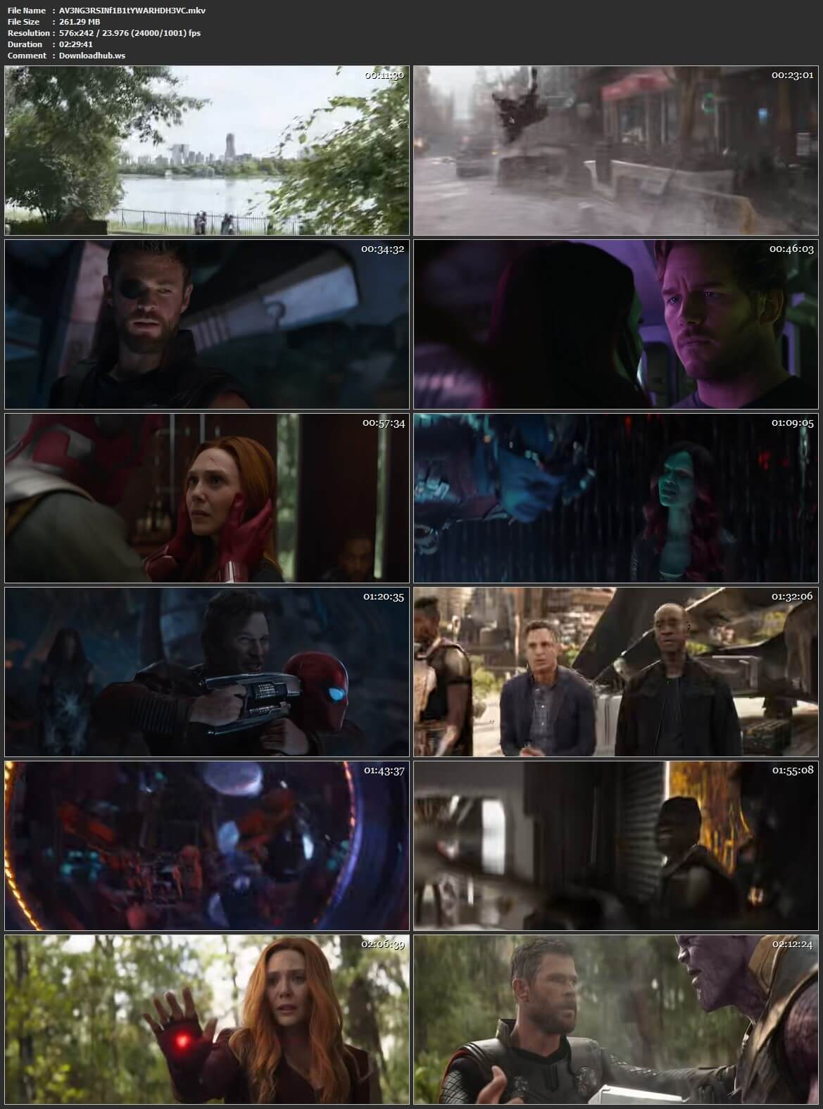 Avengers Infinity War 2018 Hindi Dual Audio 250MB Web-DL HEVC 480p ESubs