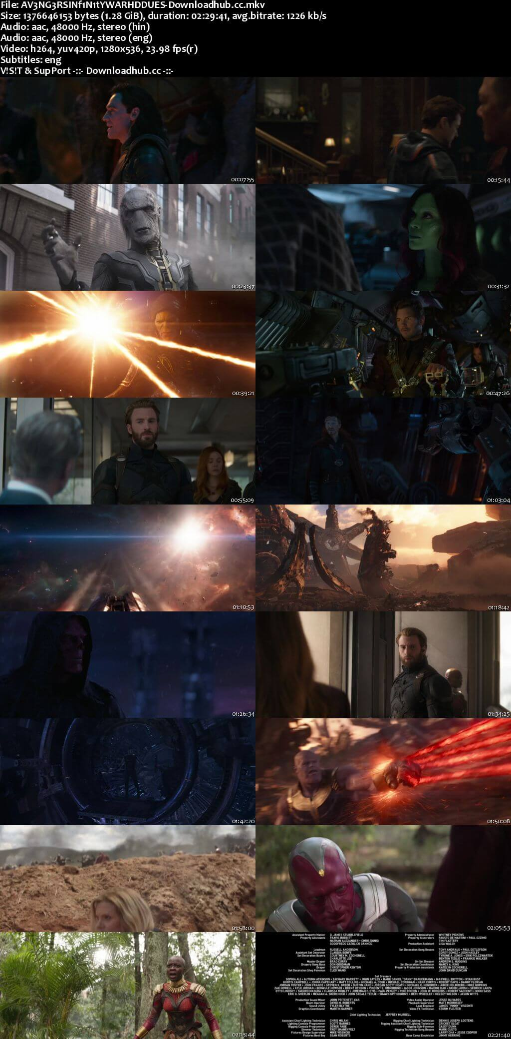 Avengers Infinity War 2018 Dual Audio 720p Web-DL [Hindi (Cleaned) - English] ESubs