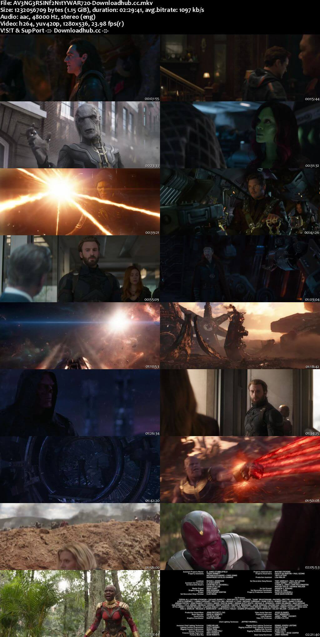 Avengers Infinity War 2018 English 720p Web-DL 1.1GB