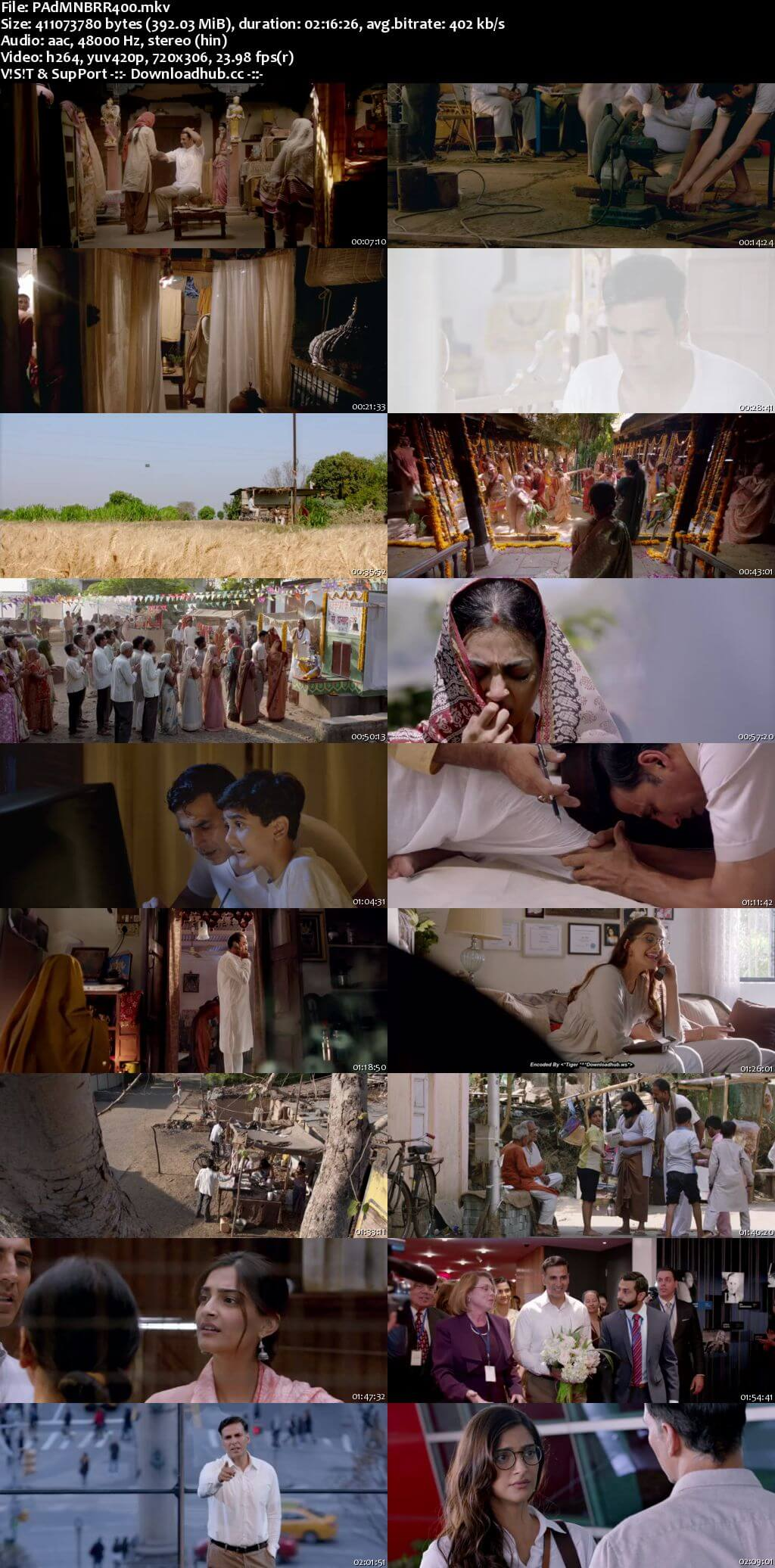 Padman 2018 Hindi 400MB BluRay 480p ESubs
