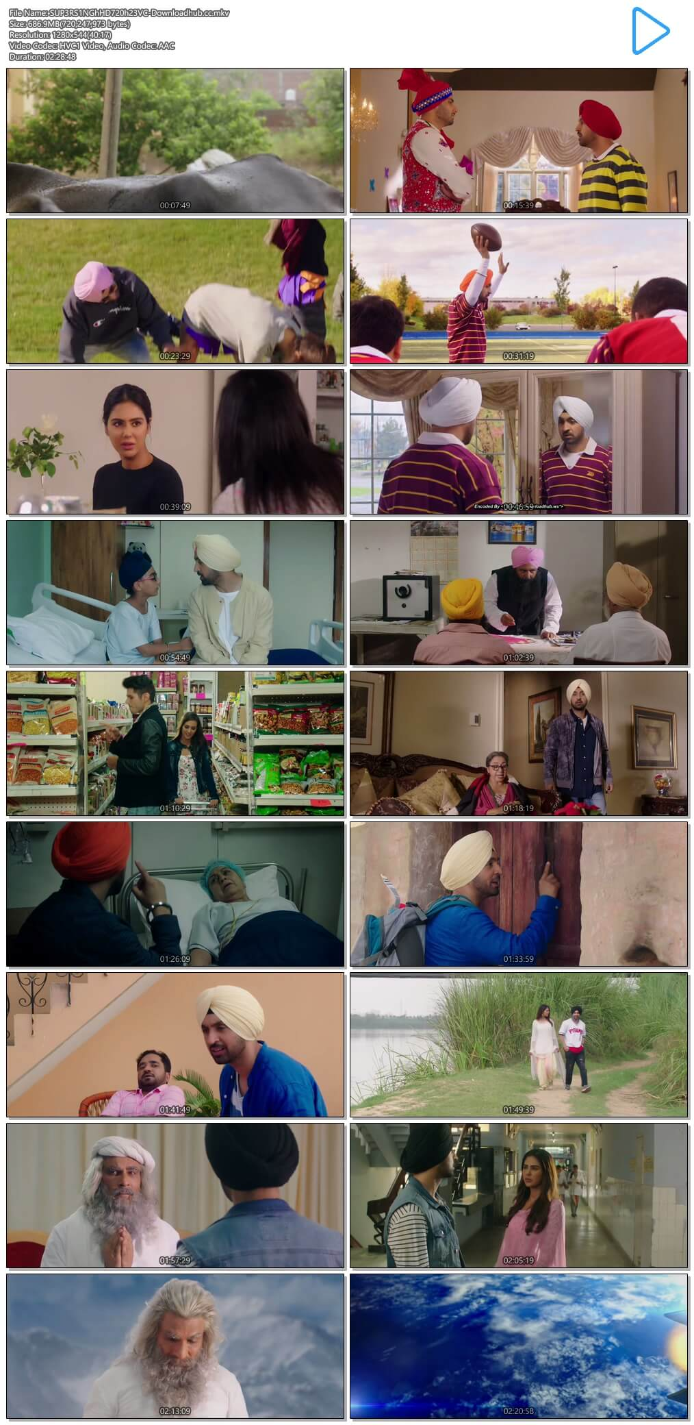Super Singh 2017 Punjabi 650MB HDRip 720p HEVC