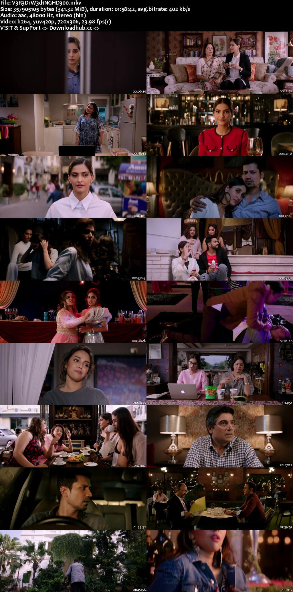 Veere Di Wedding 2018 Hindi 300MB HDRip 480p ESubs