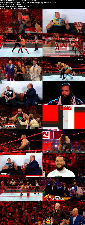 WWE Monday Night Raw 30 July 2018 480p HDTV Download