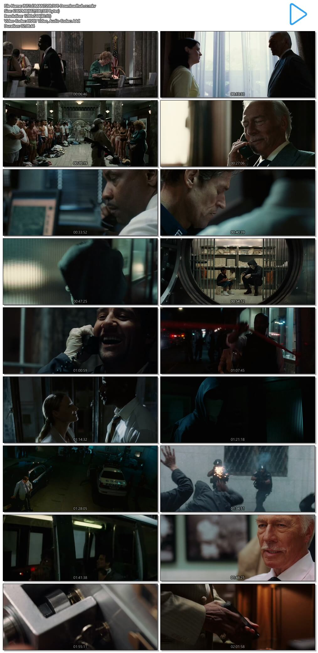 Inside Man 2006 Hindi Dual Audio 600MB BluRay 720p ESubs HEVC