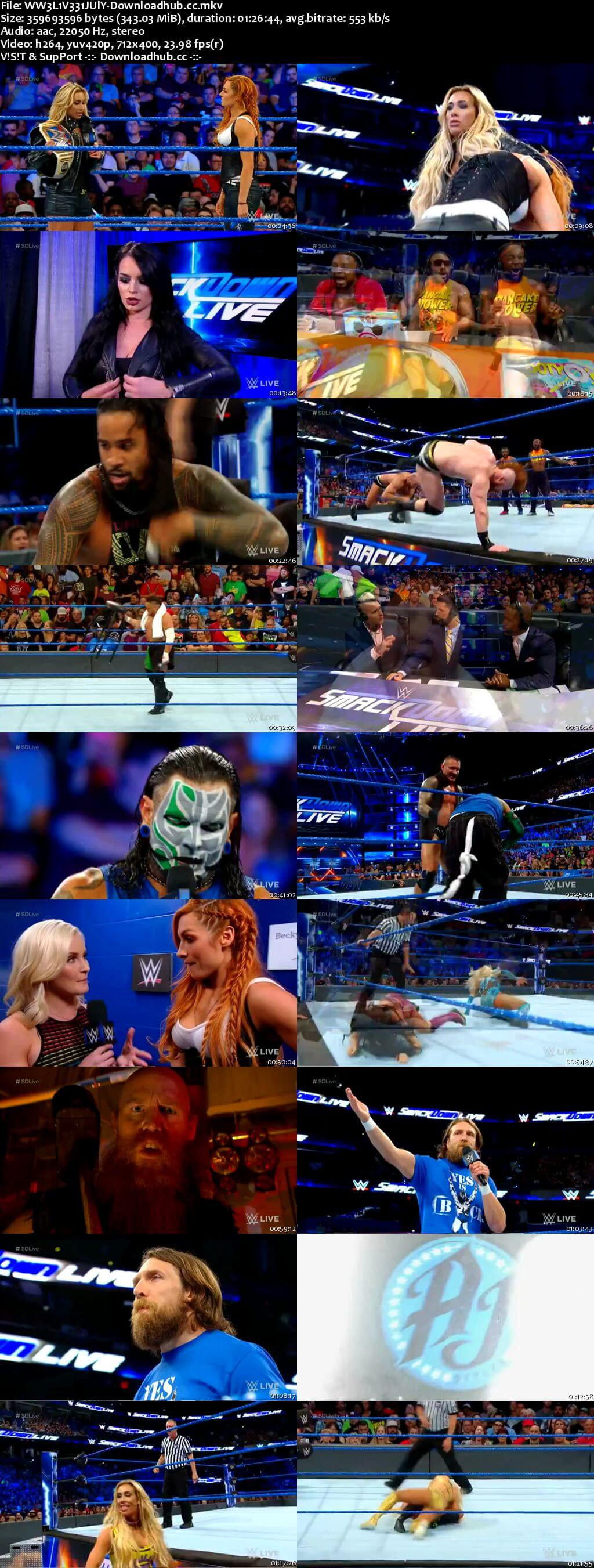 WWE Smackdown Live 31 July 2018 480p HDTV Download