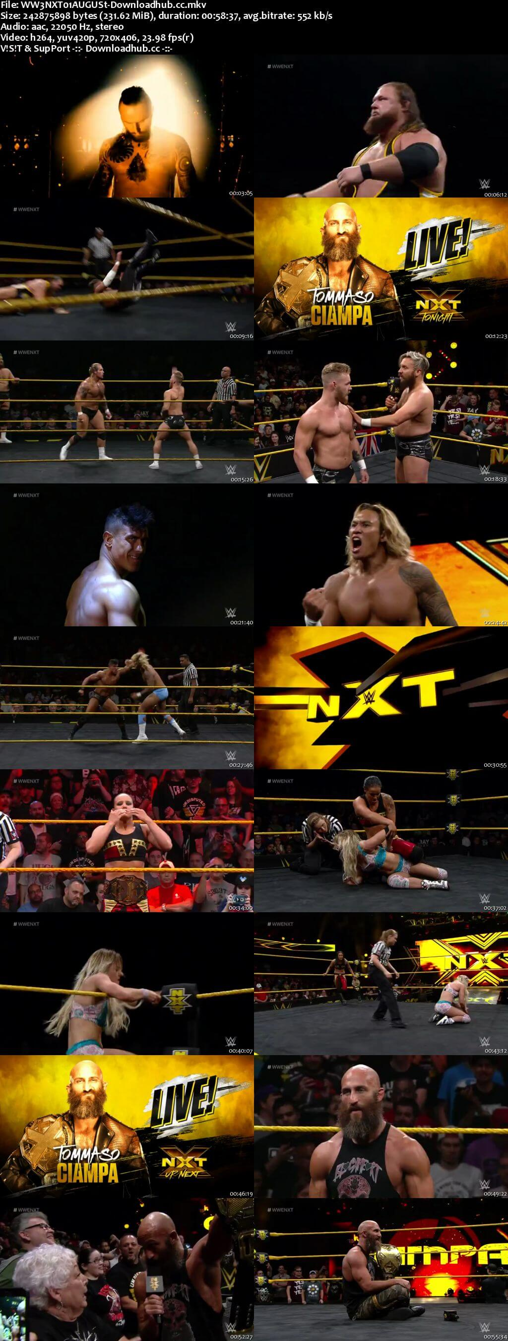 WWE NXT 01 August 2018 480p HDTV Download