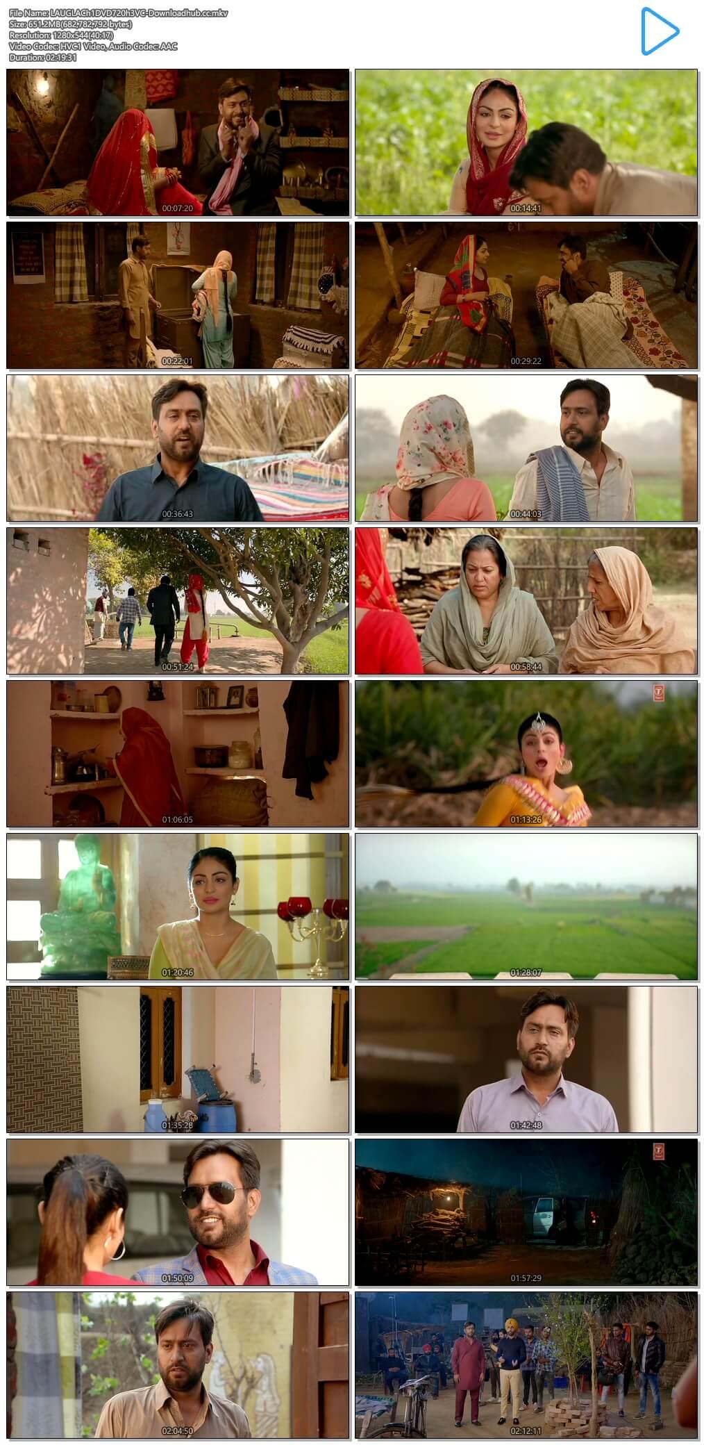 Laung Laachi 2018 Punjabi 650MB DVDRip 720p ESubs HEVC