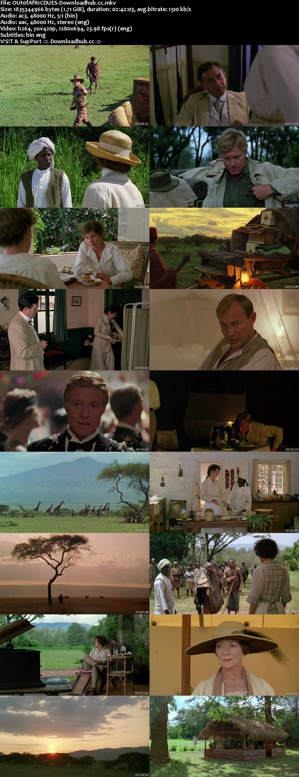 Out of Africa 1985 Dual Audio 720p BluRay [Hindi - English] ESubs
