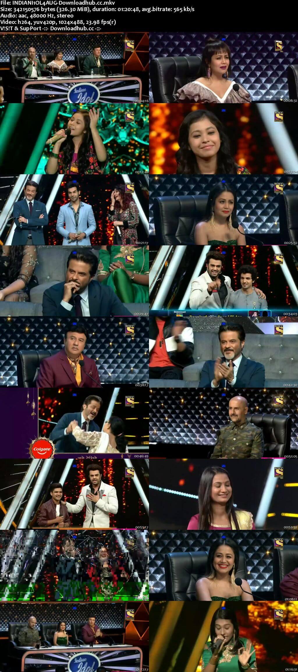 Indian Idol 04 August 2018 Episode 09 HDTV 480p