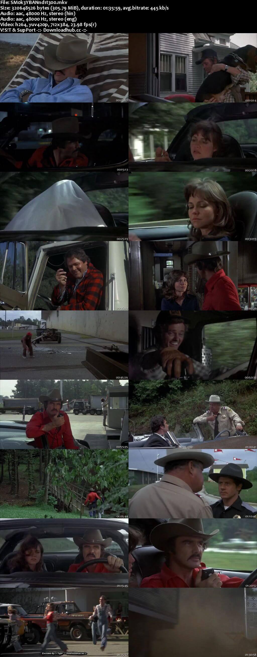Smokey and the Bandit 1977 Hindi Dual Audio 300MB BluRay 480p ESubs