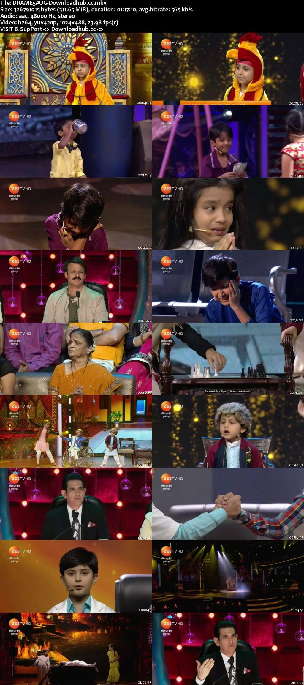 Indias Best Dramebaaz Season 3 05 August 2018 Episode 12 HDTV 480p
