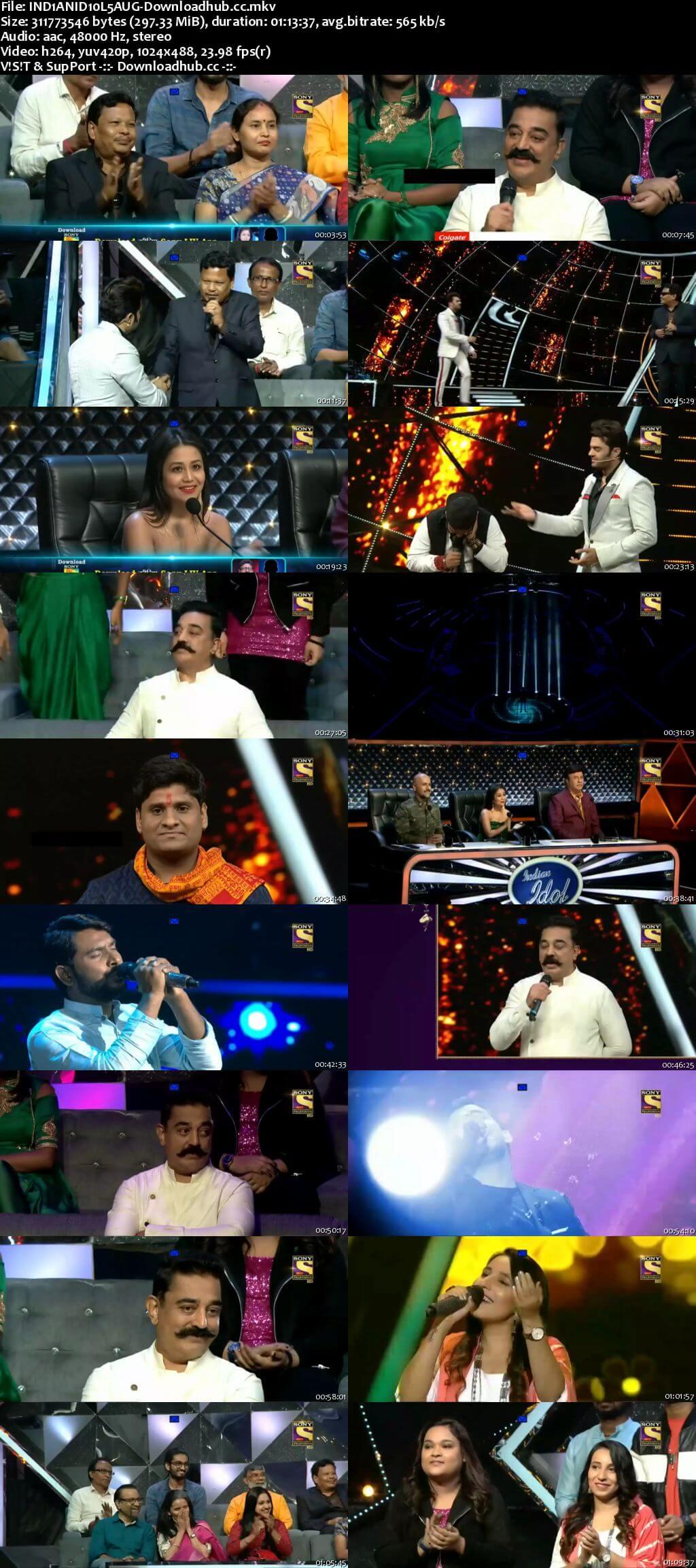 Indian Idol 05 August 2018 Episode 10 HDTV 480p