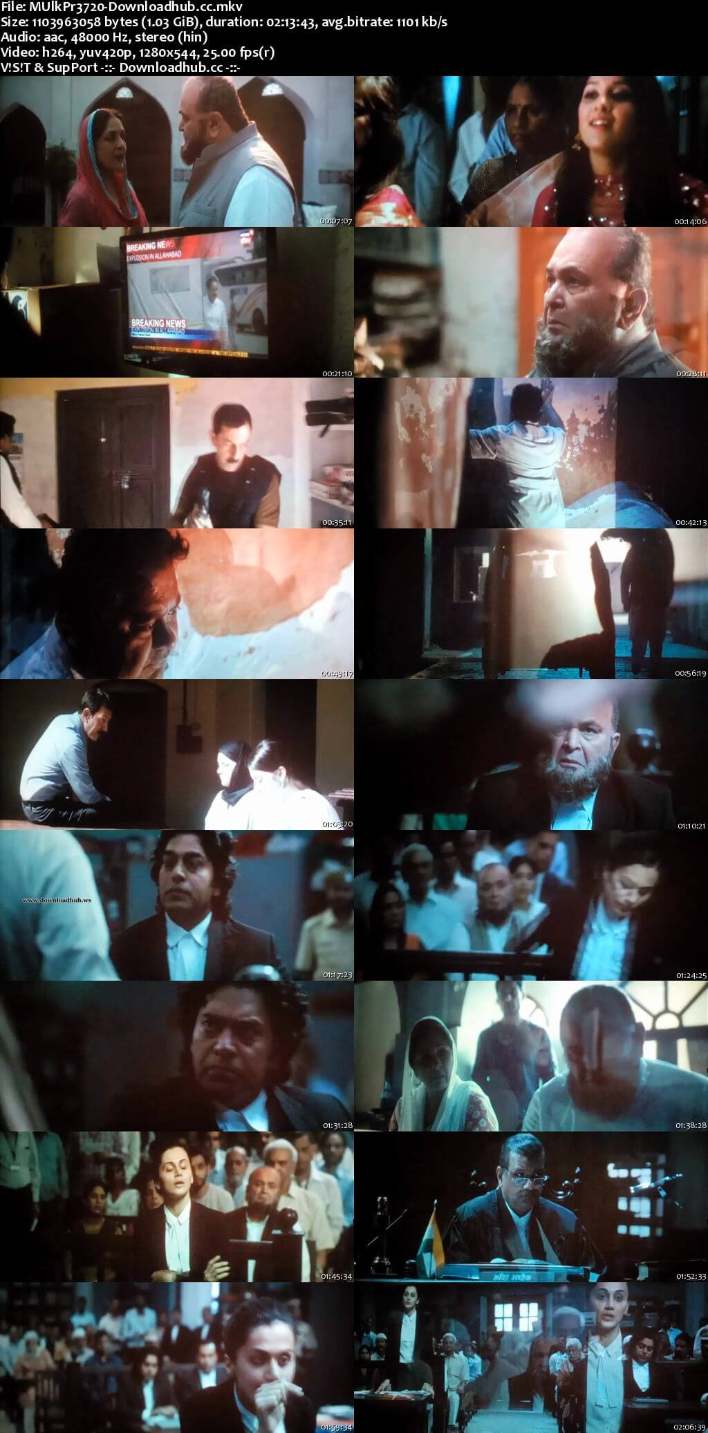 Mulk 2018 Hindi 720p Pre-DVDRip