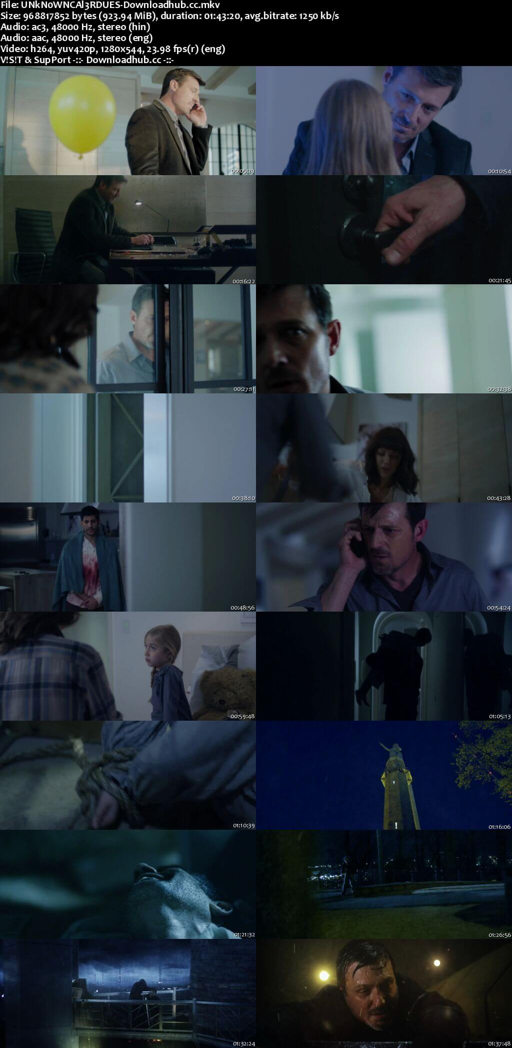 Unknown Caller 2014 Dual Audio 720p BluRay [Hindi - English] ESubs