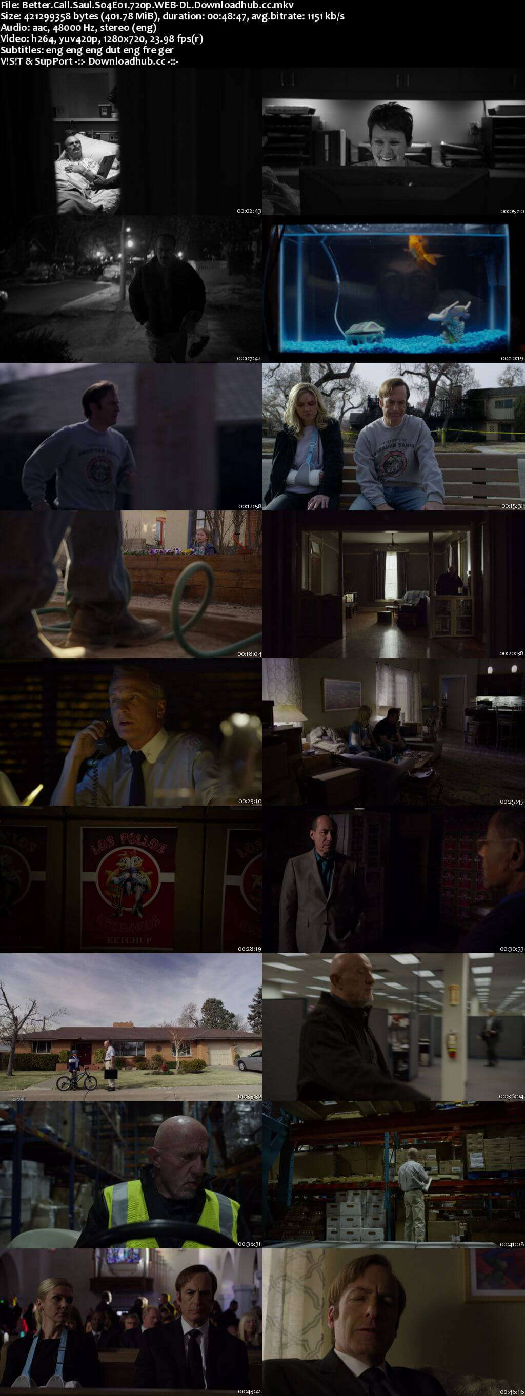 Better Call Saul S04E01 400MB WEB-DL 720p x264 MSubs