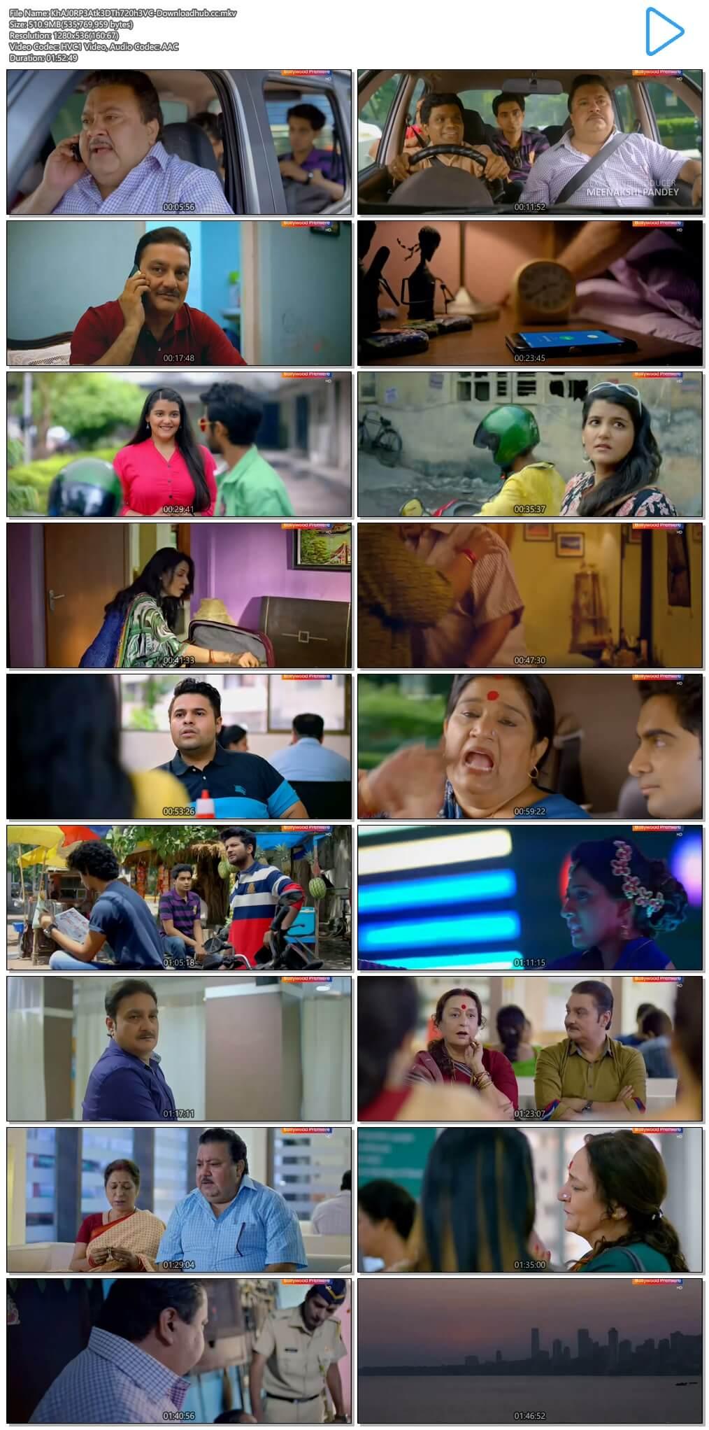 Khajoor Pe Atke 2018 Hindi 500MB DTHRip 720p HEVC