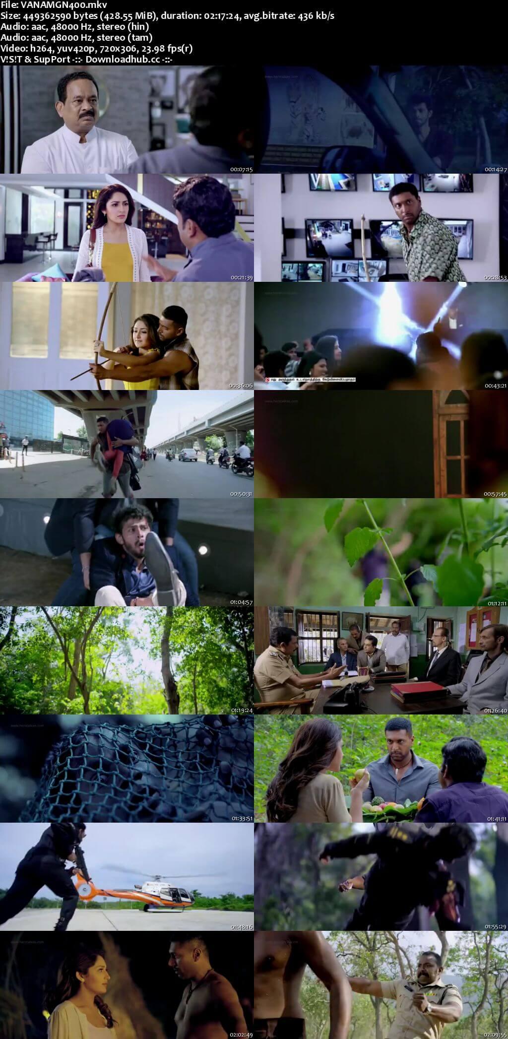 Vanamagan 2017 Hindi Dual Audio 400MB UNCUT HDRip 480p ESubs
