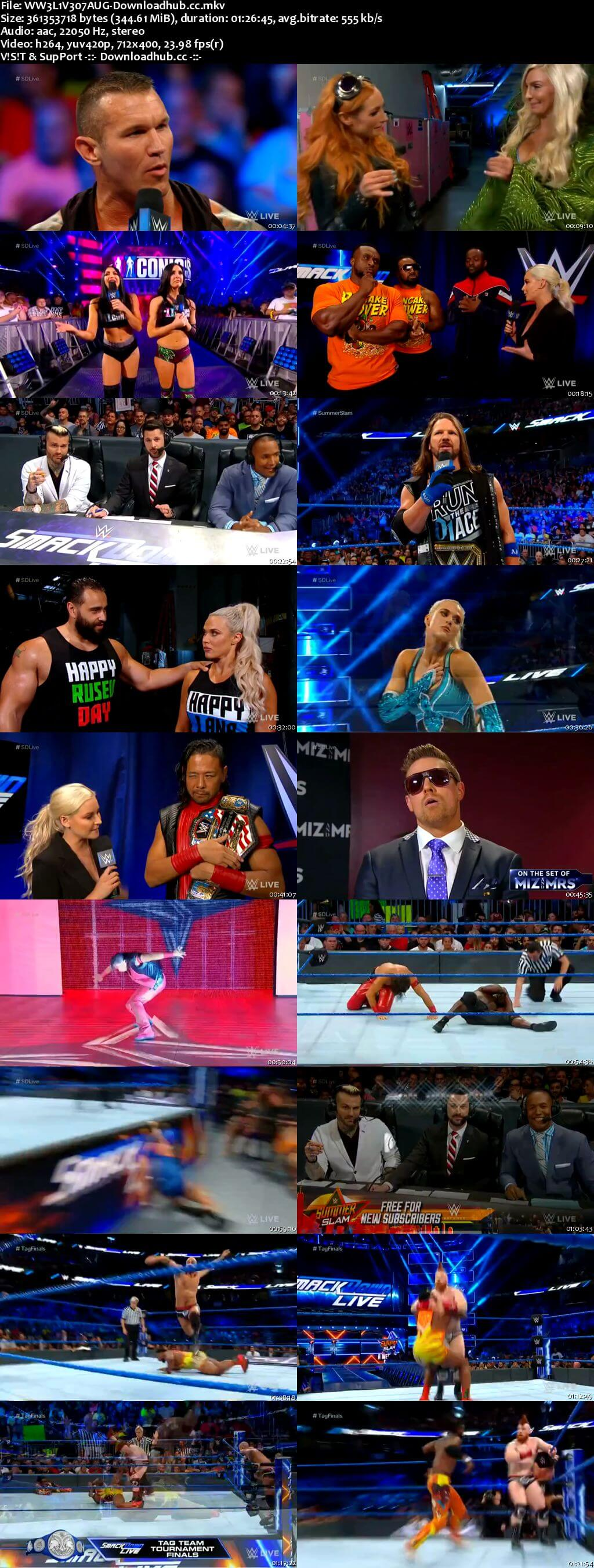 WWE Smackdown Live 07 August 2018 480p HDTV Download