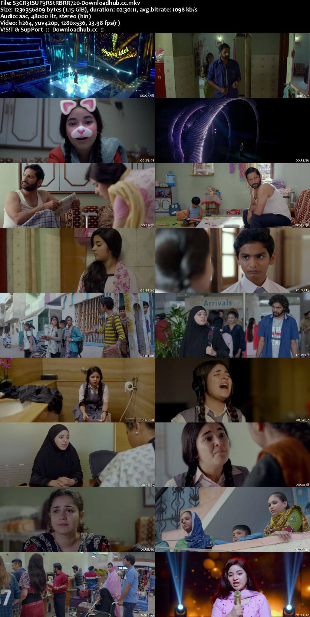 Secret Superstar 2017 Hindi 720p BluRay ESubs
