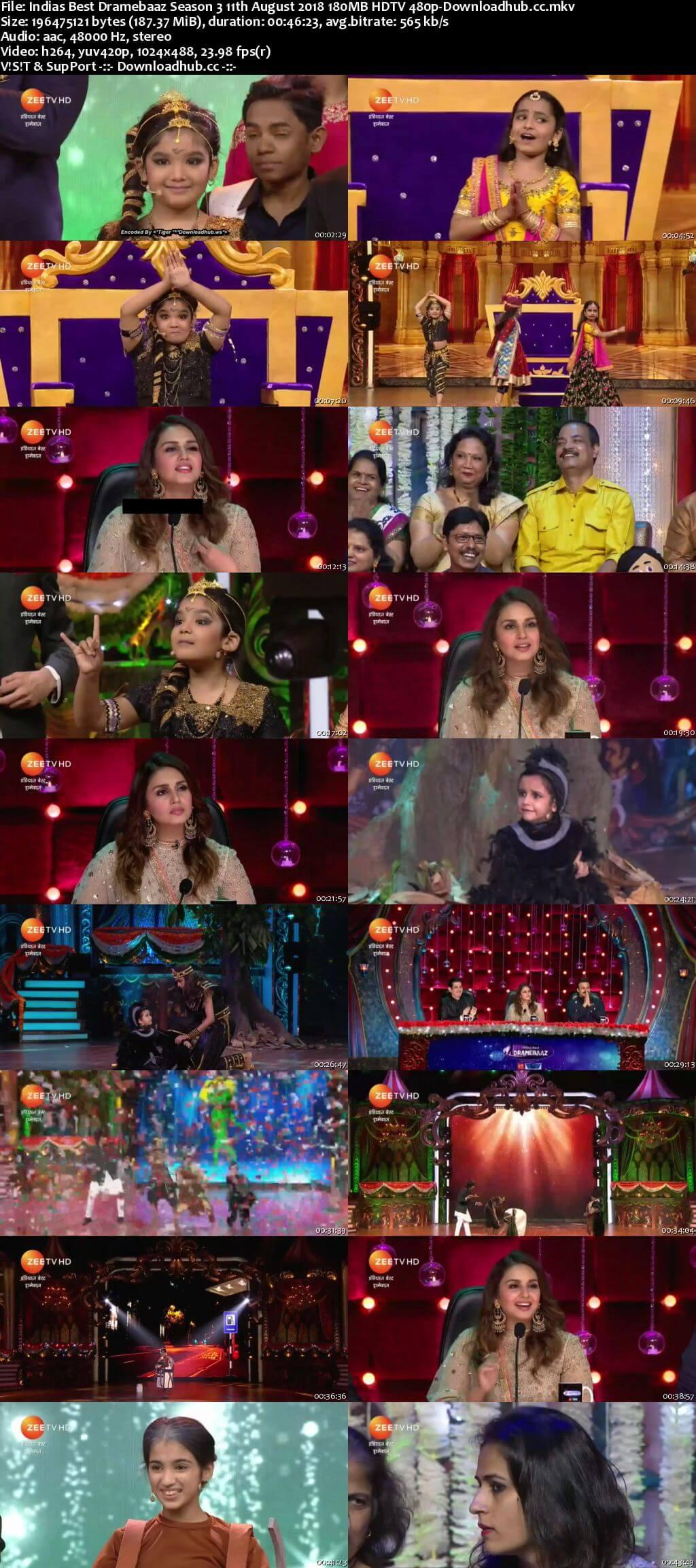 Indias Best Dramebaaz Season 3 11 August 2018 Episode 13 HDTV 480p