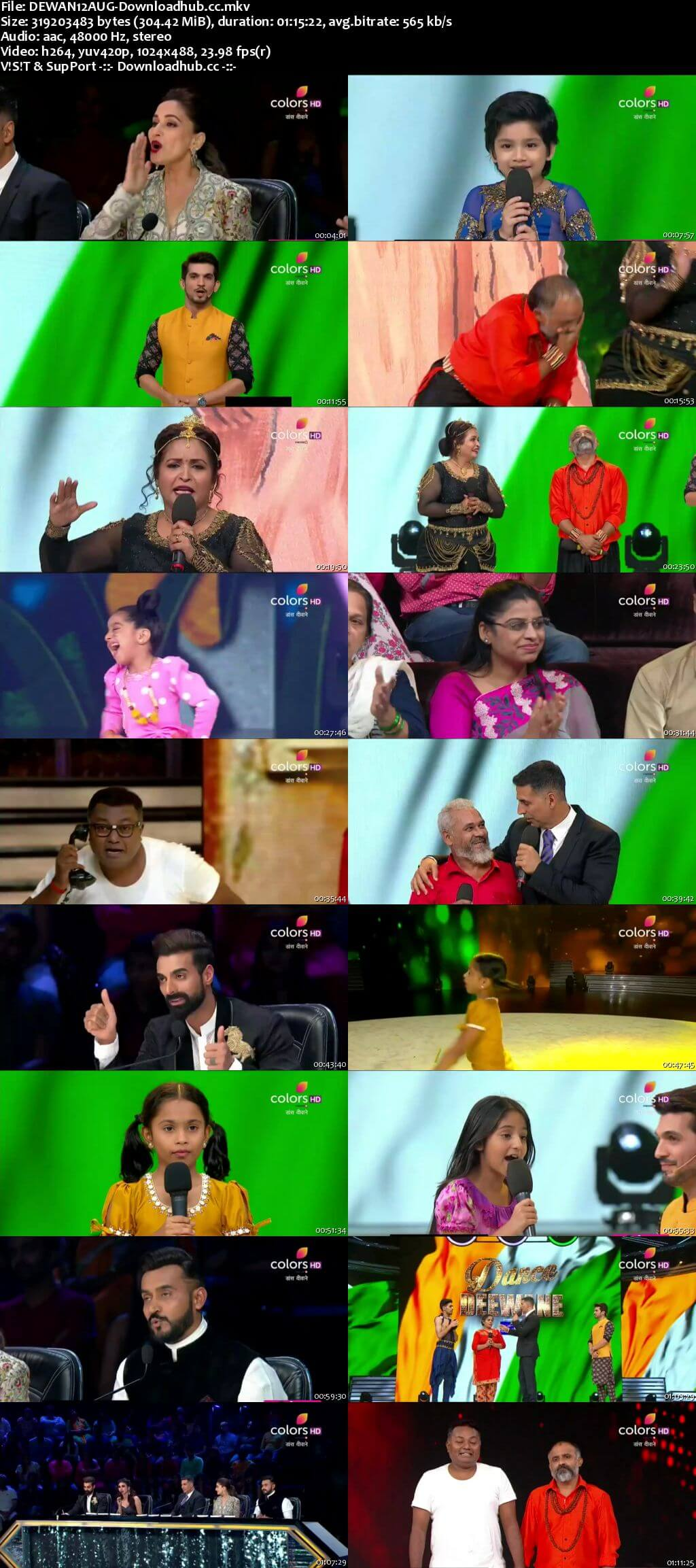 Dance Deewane 12 August 2018 Episode 21 HDTV 480p