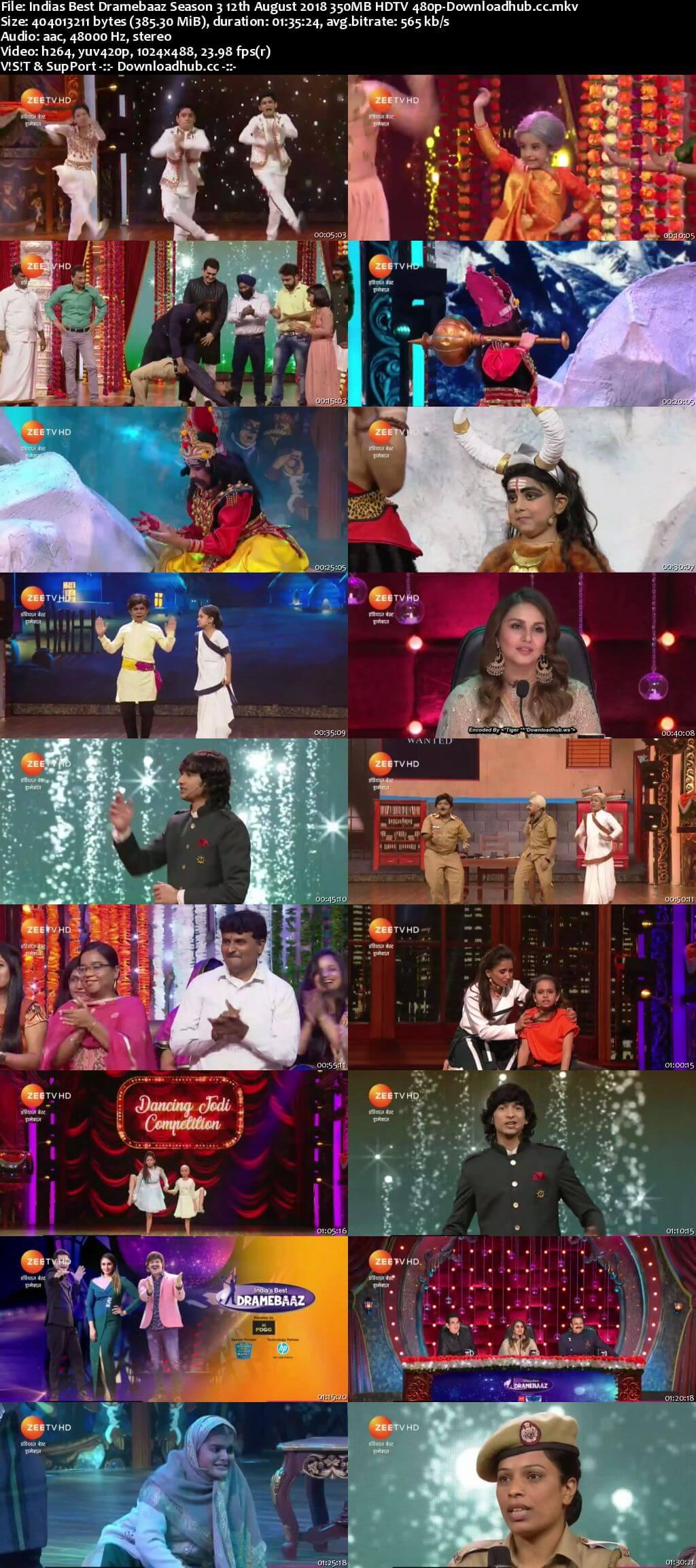 Indias Best Dramebaaz Season 3 12 August 2018 Episode 14 HDTV 480p