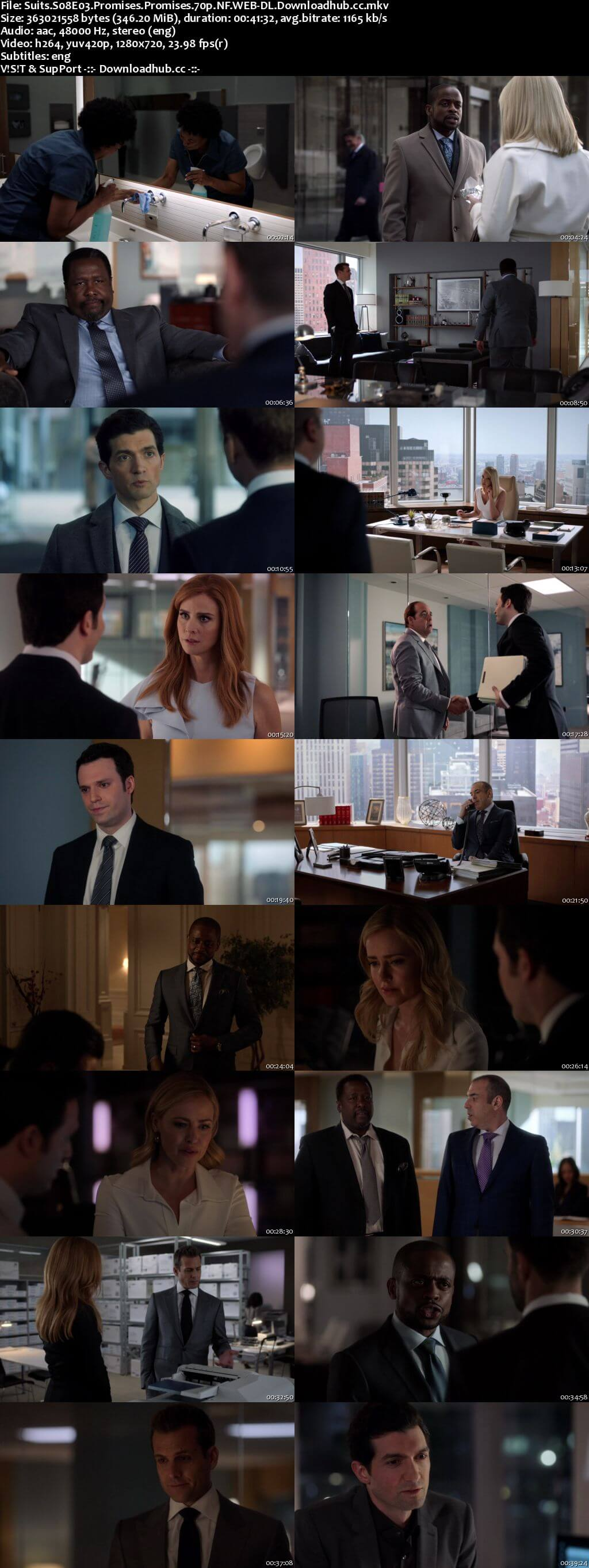 Suits S08E03 350MB Web-DL 720p x264 ESubs