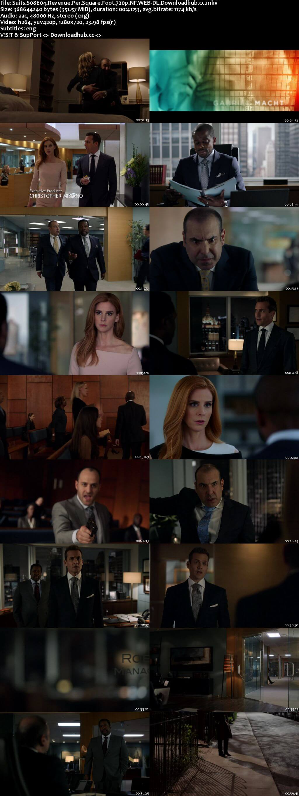 Suits S08E04 350MB Web-DL 720p x264 ESubs