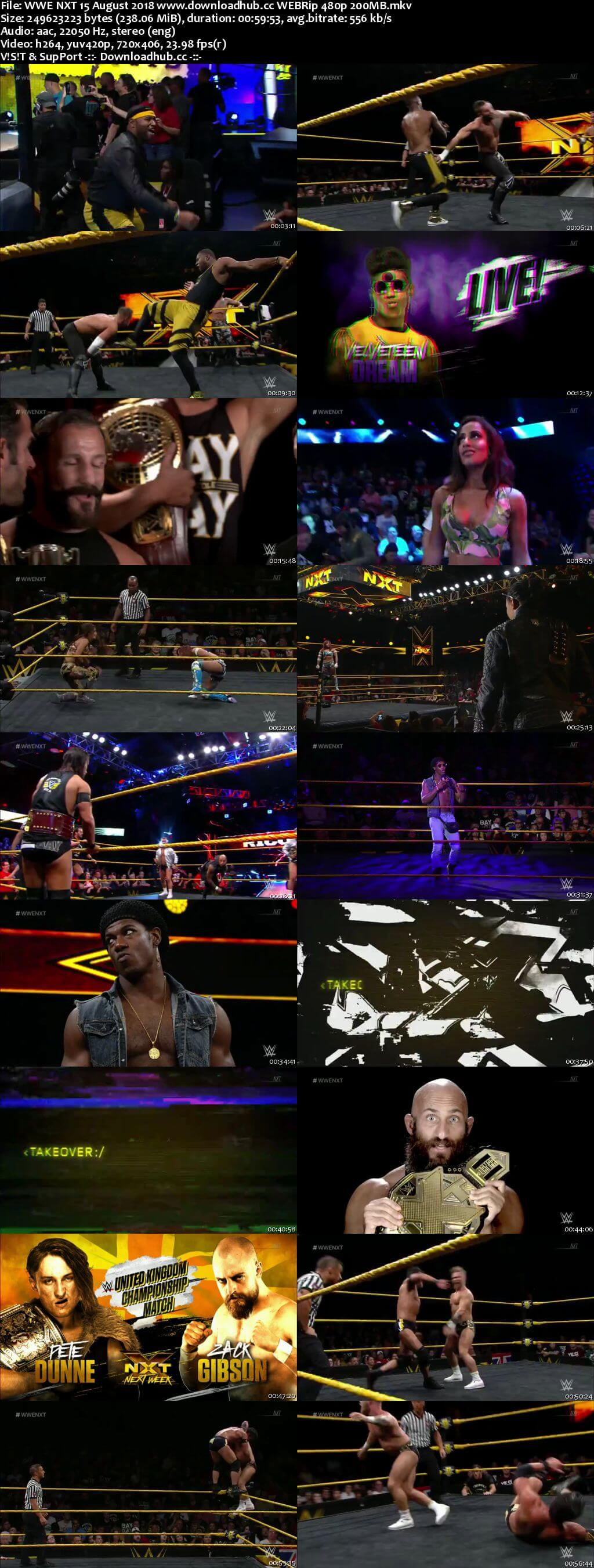 WWE NXT 15 August 2018 480p HDTV Download