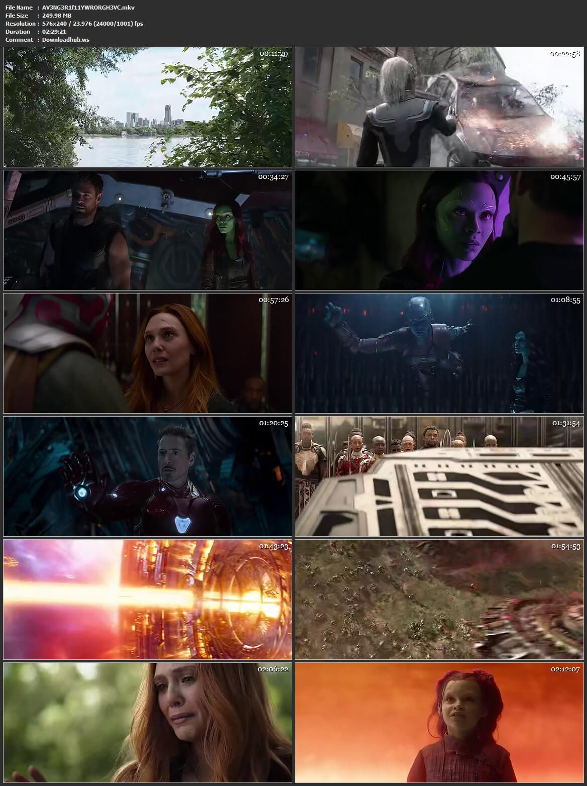 Avengers Infinity War 2018 Hindi ORG Dual Audio 250MB BluRay HEVC Mobile ESubs