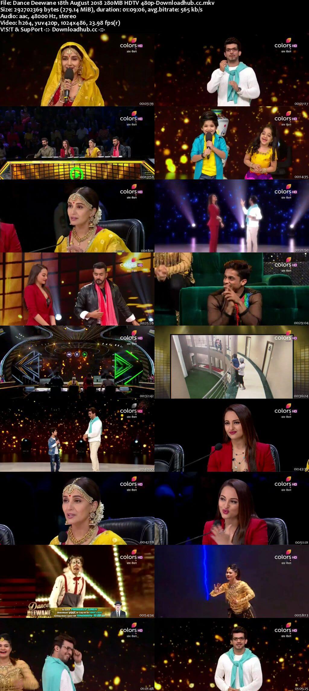Dance Deewane 18 August 2018 Episode 22 HDTV 480p