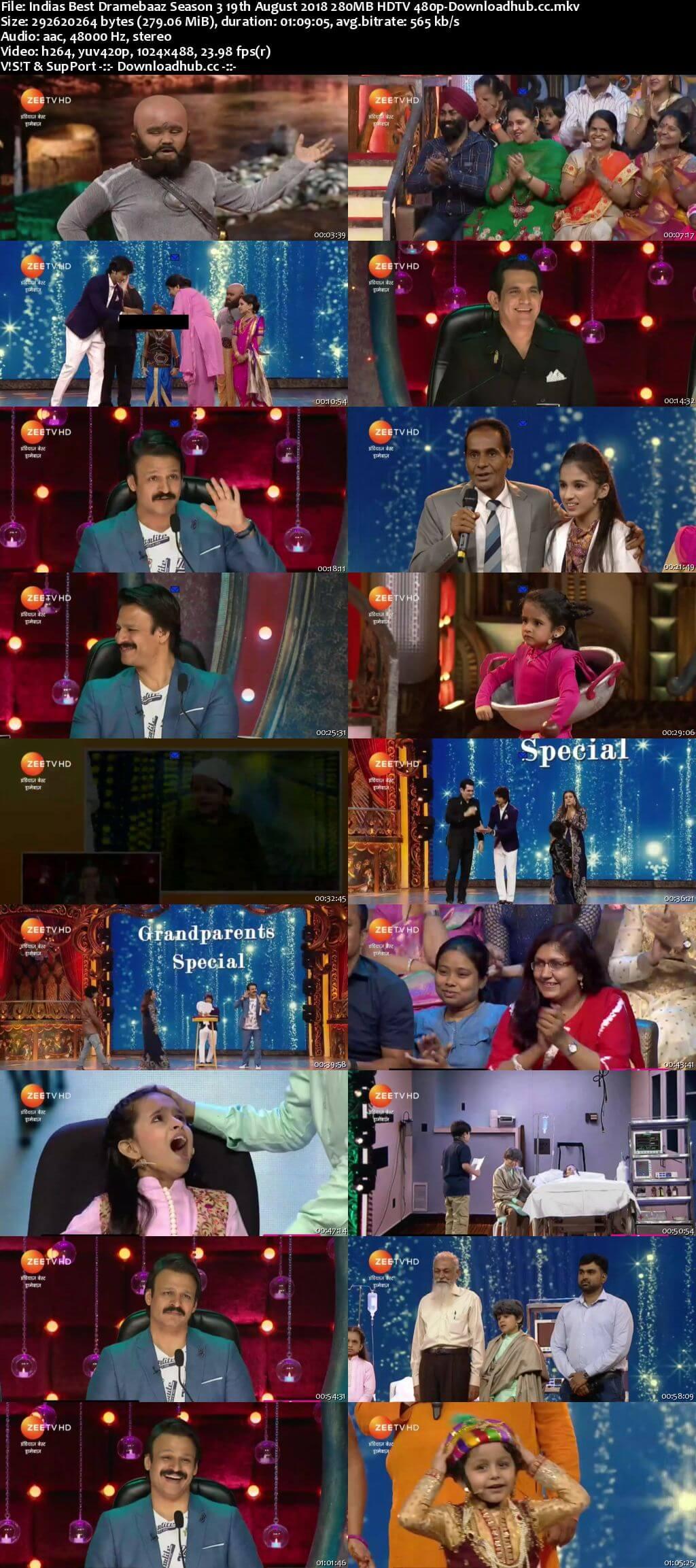 Indias Best Dramebaaz Season 3 19 August 2018 Episode 16 HDTV 480p