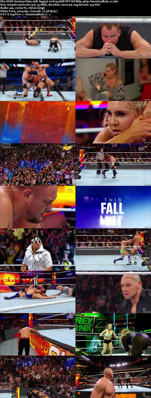 WWE SummerSlam 19th August 2018 950MB PPV WEBRip 480p