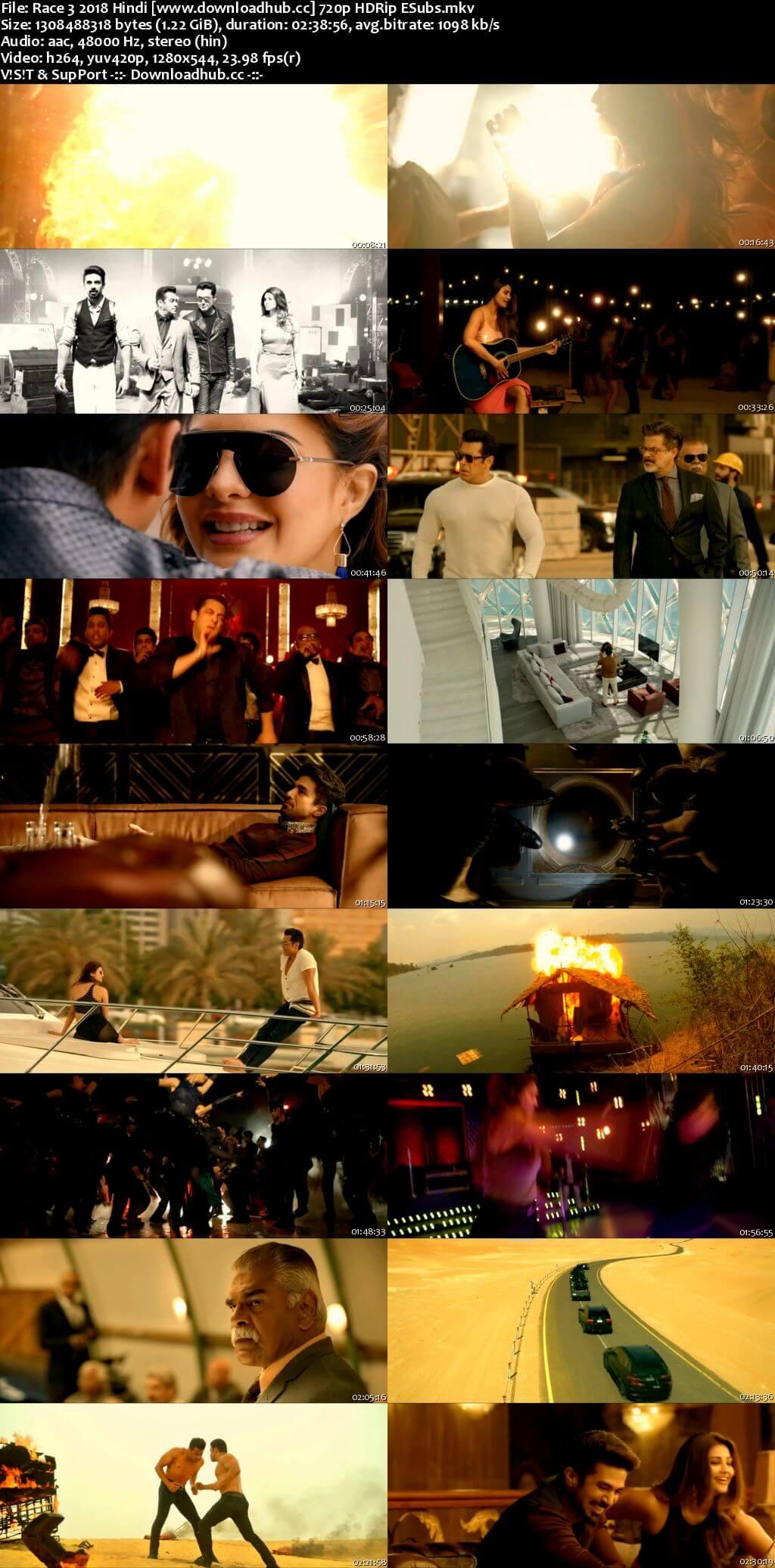 Race 3 2018 Hindi 720p HDRip ESubs