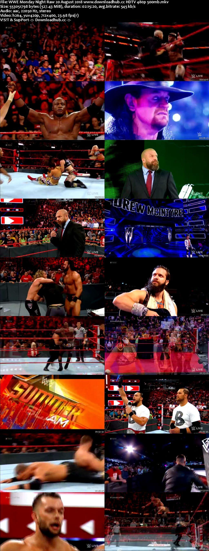 WWE Monday Night Raw 20 August 2018 480p HDTV Download